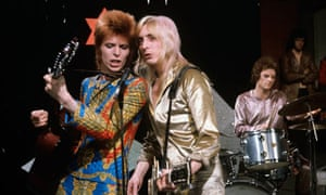 David Bowie with Trevor Bolder and Mick Ronson