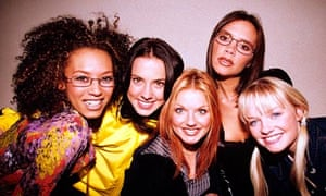 The Spice Girls - Melanie B, Melanie C, Geri Halliwell, Victoria Adams and Emma Bunton