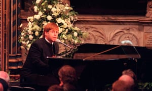 Sir Elton John signing 'Candle In The Wind'