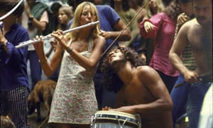 Jamming at the Woodstock music festival