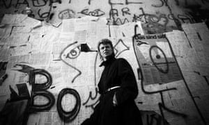 David Bowie at the Berlin Wall.