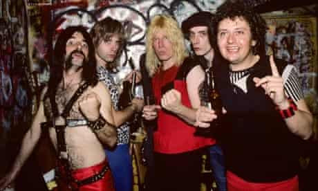 Spinal Tap backstage at CBGB's in New York City