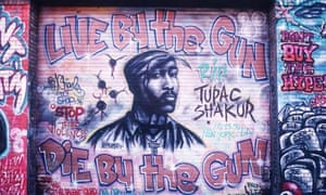 Graffiti honouring Tupac, 'the rapper as icon'