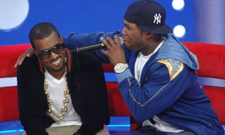 Kanye West (L) and 50 Cent