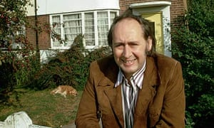 JG Ballard outiside his house