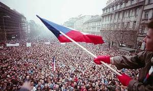 Anti-Communist demonstration in Prague