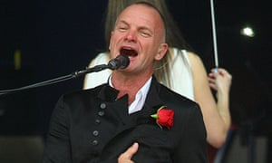 Sting performs in Lithuania