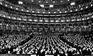 The auditorium of the Metropolitan Opera House, New York
