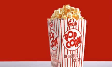 Popcorn in box, close-up