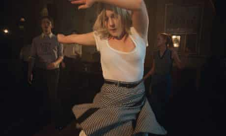 A dancer rehearses for the film
