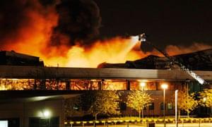 Sony warehouse fire