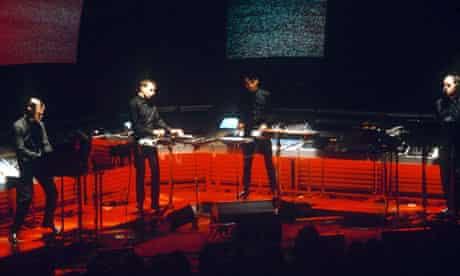 Synth city … Kraftwerk perform in 1981.