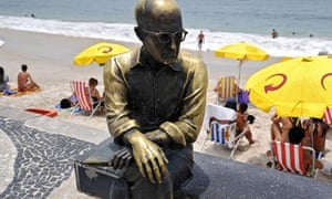 Inner vision … the statue of Carlos Drummond de Andrade on the seafront in Rio de Janeiro, Brazil.
