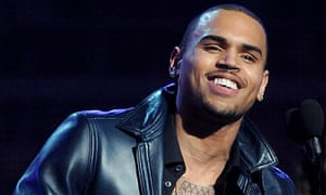 Chris Brown at the 2012 Grammy awards