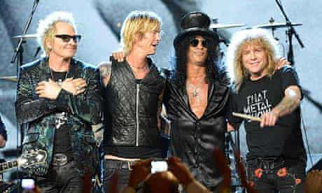 Guns N' Roses at Rock And Roll Hall of Fame 2012