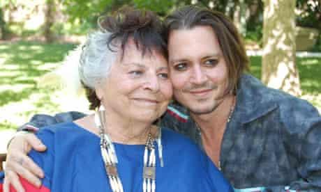 Johnny Depp and LaDonna Harris