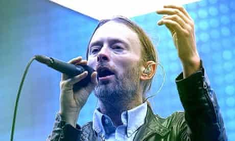 Thom Yorke of Radiohead at Bonnaroo 2012