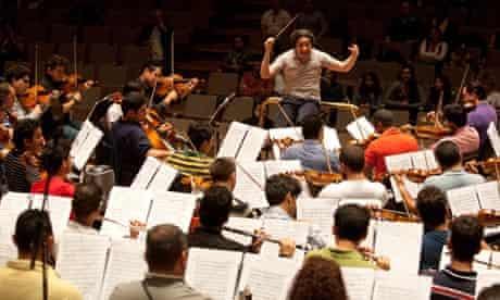 Dudamel conducts the Simon Bolivar Symphony Orchestra