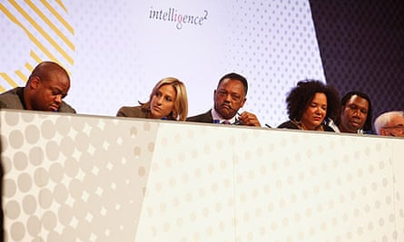 Emily Maitlis and Jesse Jackson at the Hip-Hop on Trial debate