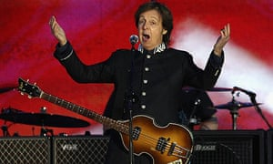 Paul McCartney performs at diamond jubilee concert
