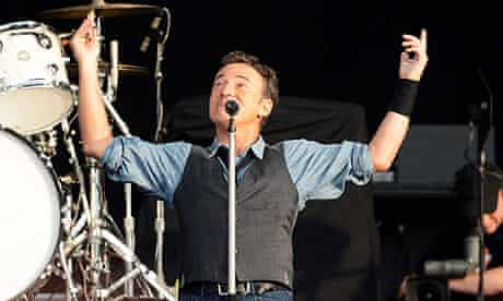 Bruce Springsteen performs in Hyde Park 2012