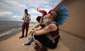 Punks at the Rebellion festival in Blackpool