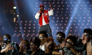 Dizzee Rascal performs at London 2012 Olympics opening ceremony