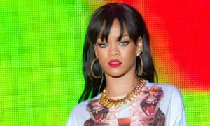 Rihanna performing at the Hackney Weekend in London