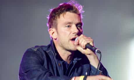 Damon Albarn of Blur in 2012