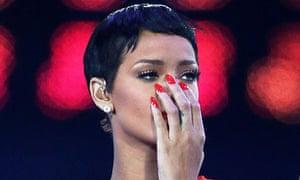 Rihanna at the Paralympics closing ceremony 2012