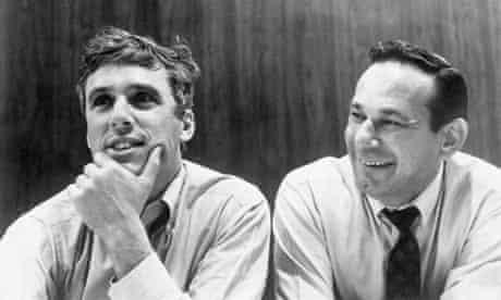 Hal David (right) with composer Burt Bacharach.