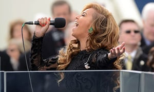 Beyonce performs at second inauguration of Barack Obama