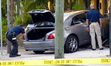 Rick Ross's car being examined by police