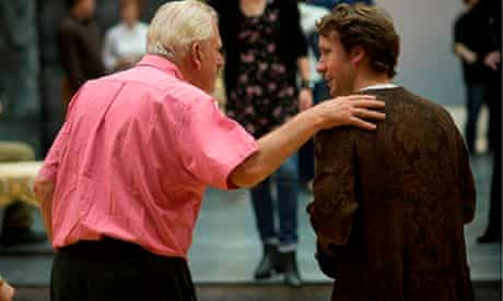 Thomas Allen & Jacques Imbrailo in rehearsal for Scottish Opera's Don Giovanni