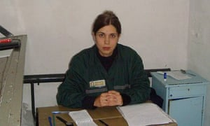 Pussy Riot member Nadezhda Tolokonnikova in a single confinement cell at Penal Colony No 14.