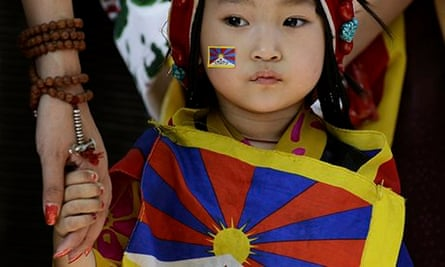 Home and away … a young Tibetan exile in India.