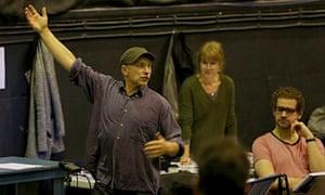 Simon McBurney directing the Magic Flute, ENO 2013