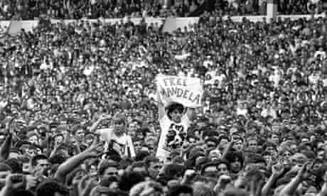 Free Nelson Mandela - An Amnesty International benefit concert at Wembley Stadium, London, in 1988