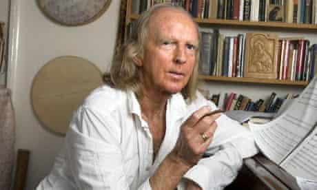 Sir John Tavener, photographed in 2007
