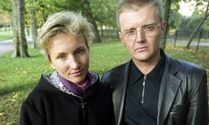 Marina and Alexander Litvinenko in London in 2000
