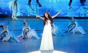 Sarah Brightman performs at the Beijing film festival awards ceremony