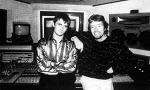 Oldfield and Branson in the studio in 1973