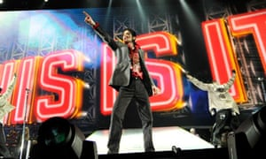 Michael Jackson rehearses for his This Is It tour in LA in 2009.