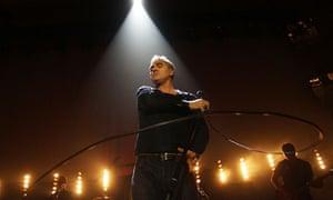 Morrissey performing in Wellington, New Zealand