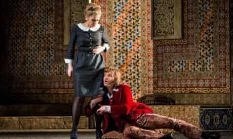 Laura Tatulescu as Susanna and Joshua Hopkins and Count Almaviva in Le Nozze di Figaro