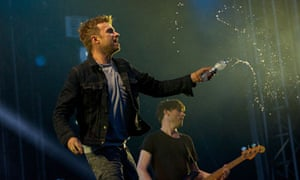 Damon Albarn performs with Blur