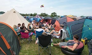 Glastonbury 2013 campers