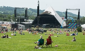 Empty Pyramid Stage at Glastonbury 2013