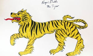 Noye's Fludde - tiger, designed by James Mayhew