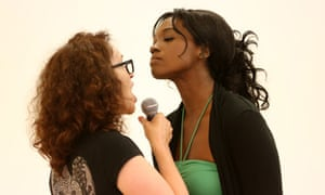 Jacqui Dankworth and Angel Blue rehearse American Lulu